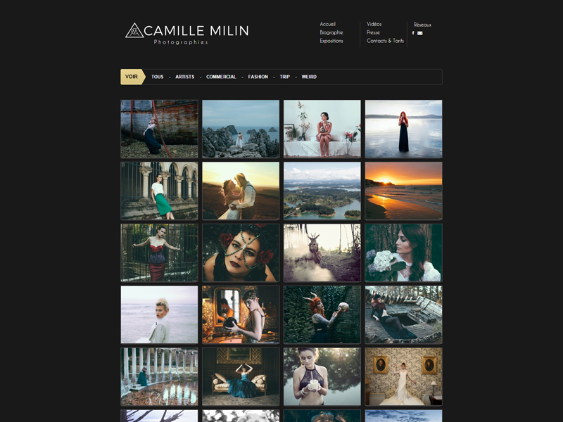 Graphisme conception site Camille Milin